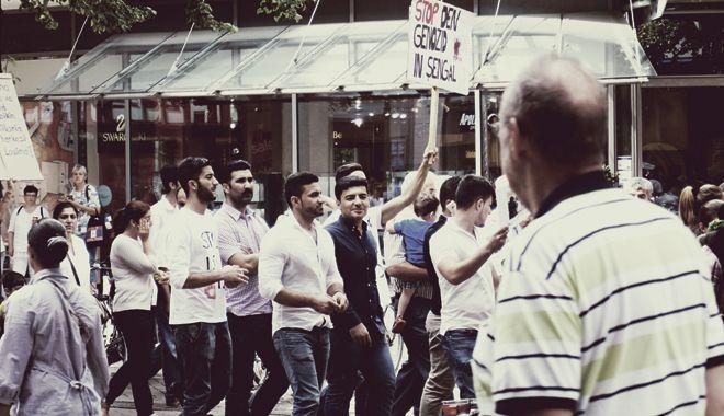 демонстрация люди ганновер
